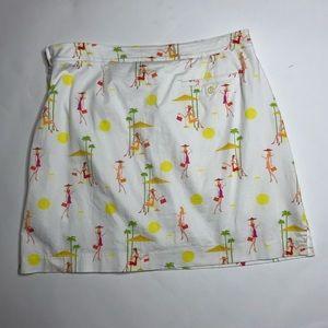 EP Pro Golf Skort Skirt Shoppers Print White 10